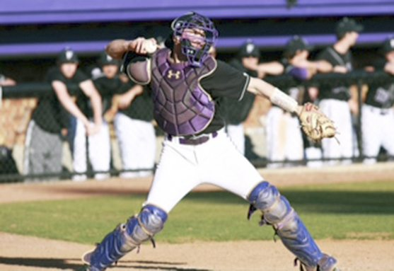 Kinsley as catcher for Furman University