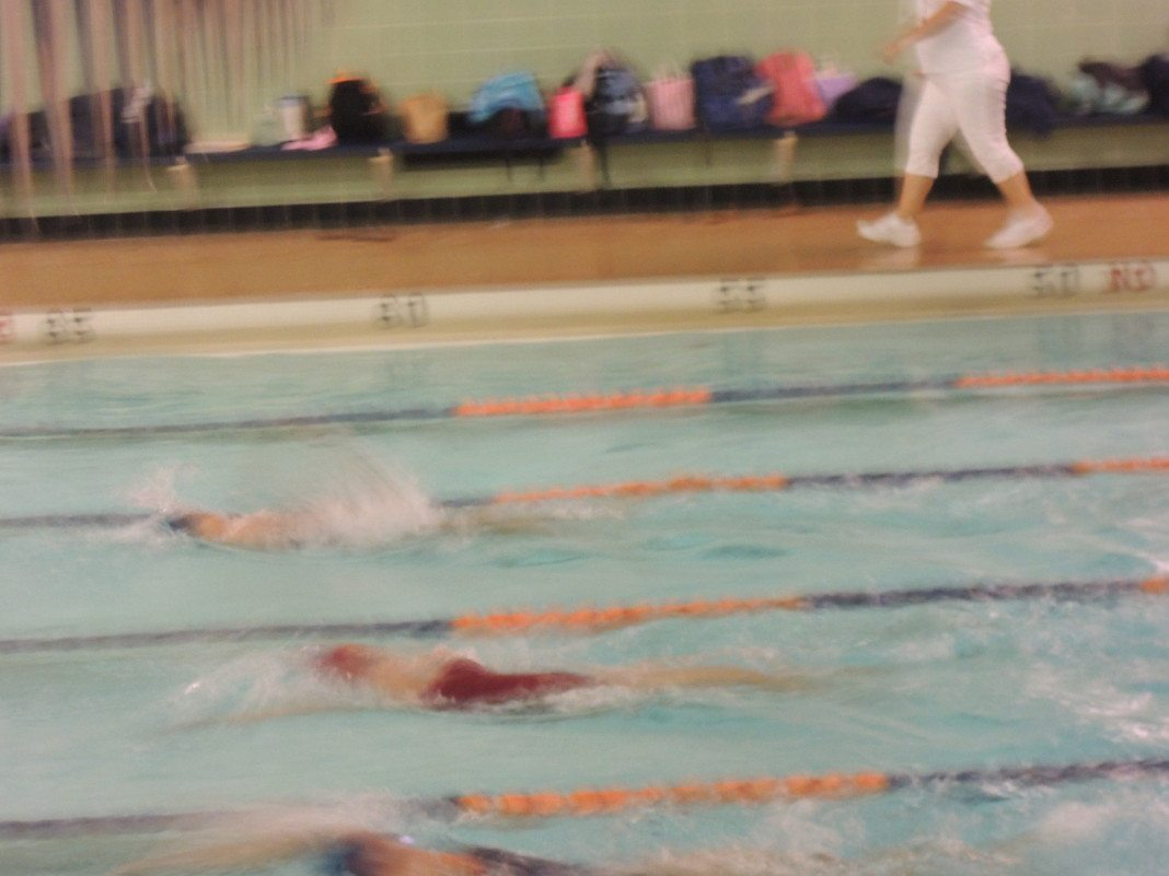 Girls Swimming Defeats Garden City Manhasset Press