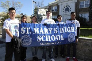 This past Earth Day, St. Mary's students helped clean up the streets of Manhasset, just one of many ways the school encourages service to the school, the parish and the larger community.