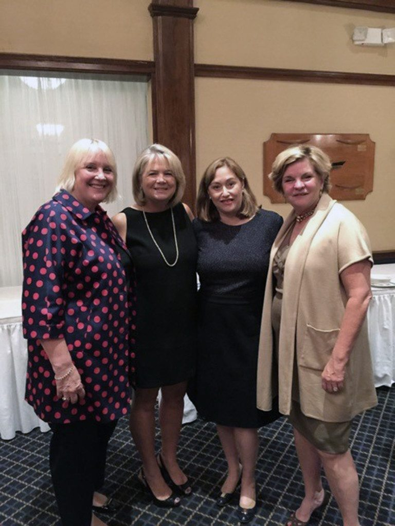 kiwanis club holds annual installation gala manhasset press marketta watson dr kathy levinson barbara cohen pat lampl