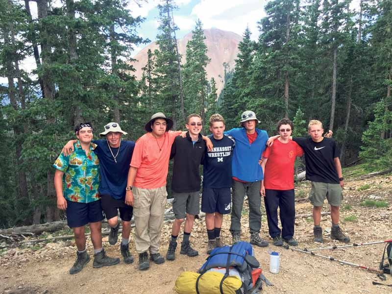 Troop 71 summits highest philmont peak manhasset press for Academie de cuisine summer camp