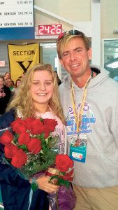 Meagan Smith with Coach Matthew McGrane
