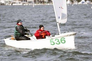 Pedro Lorson and Mimi Berry came in 5th in a very competitive IC Dinghy Fleet at the New Year Regatta.