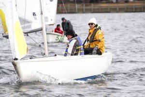 Local racers Stephanie Baas and George Huntington came in second place in the Ideal 18 Fleet, only one point from first-place winner Peter Beardsley, Larchmont Yacht Club.
